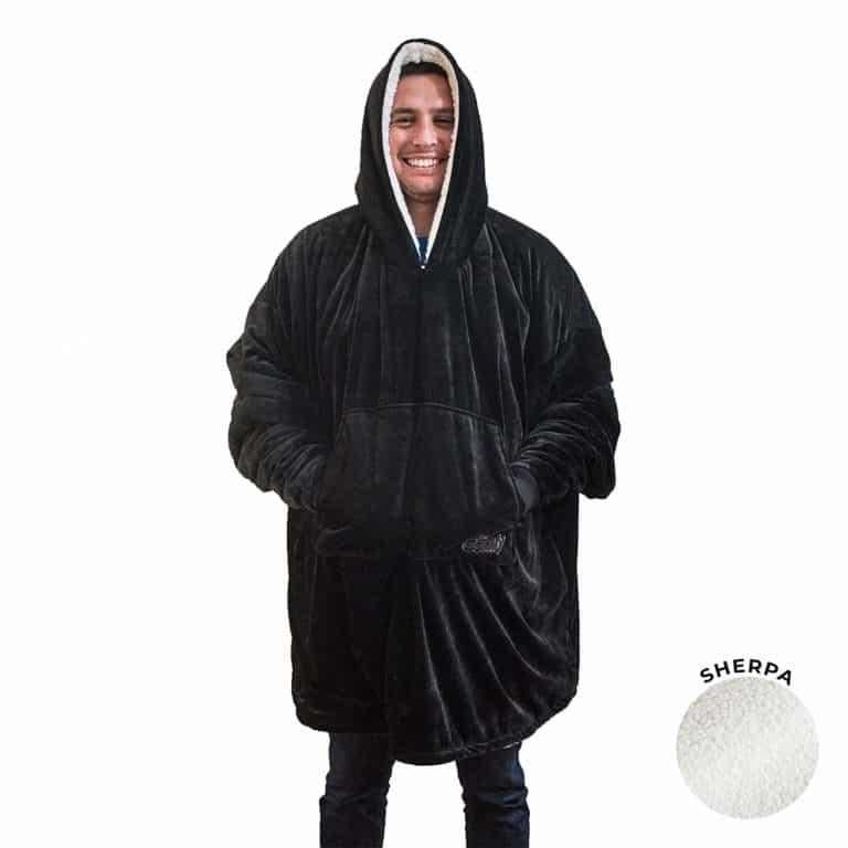 Oversized blanket sweatshirt