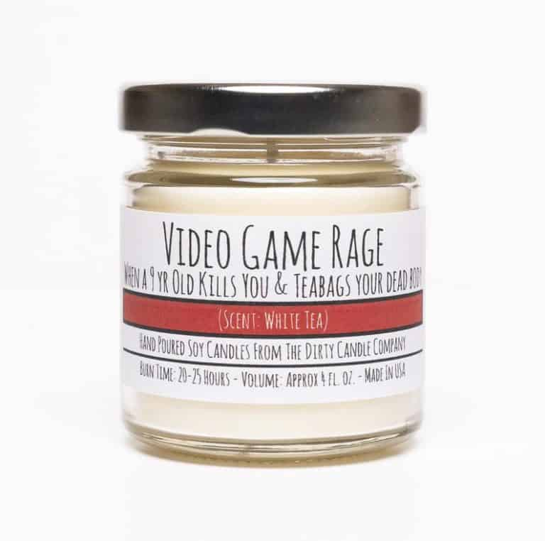 funny gift for gamers who have everything: funny candle