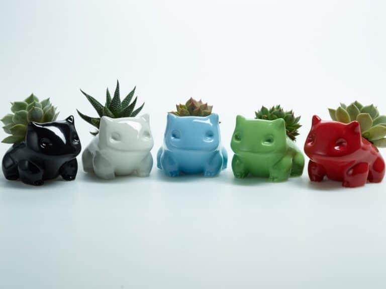 nerdy gifts: ceramic bulbasaur planter