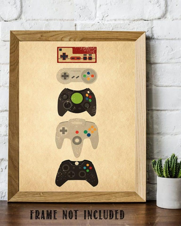 game controller art print - gift for geeks