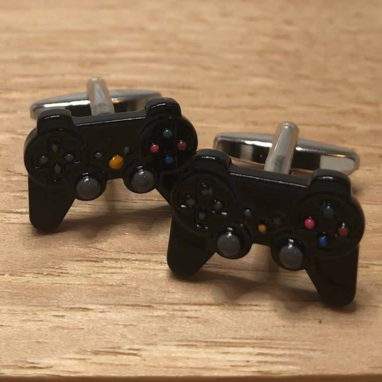 gift ideas for gamers: playstation controller cufflinks