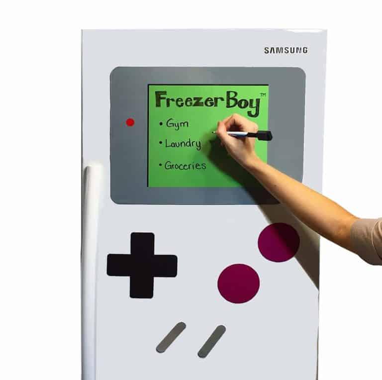 cool gift for a gamer: dry erase board fridge magnet