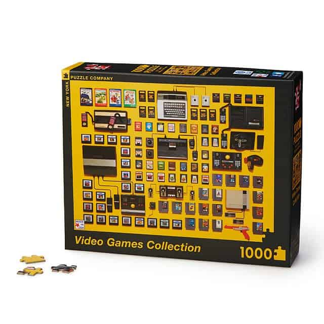 gift for gamers: video game collection puzzle