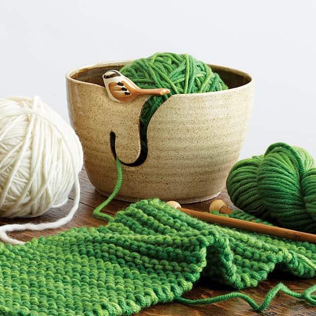 housewarming gifts - yarn bowl