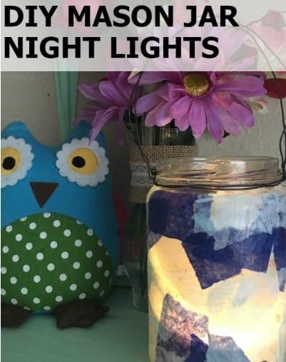 diy mason jar night light
