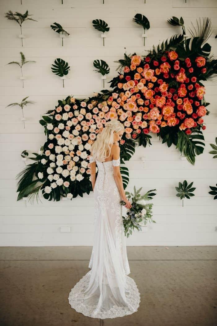 unique floral backdrop idea