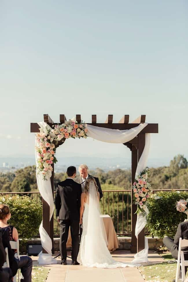 wooden wedding pergola idea