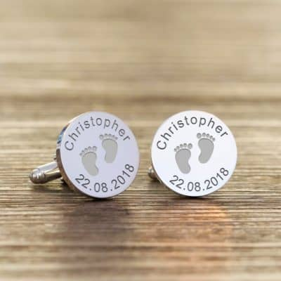 Custom Silver Plated New Daddy Cufflinks