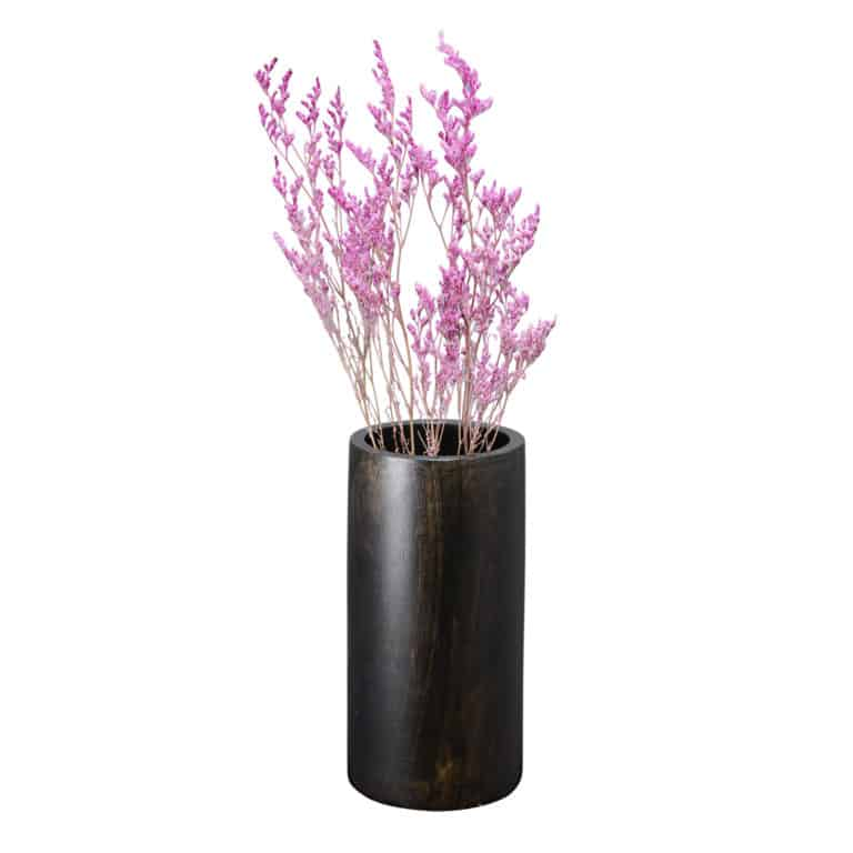 faux flowers barrel vase