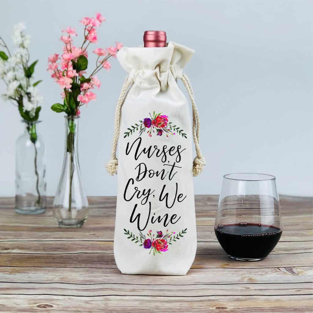 Funny Nurse Wine Bag