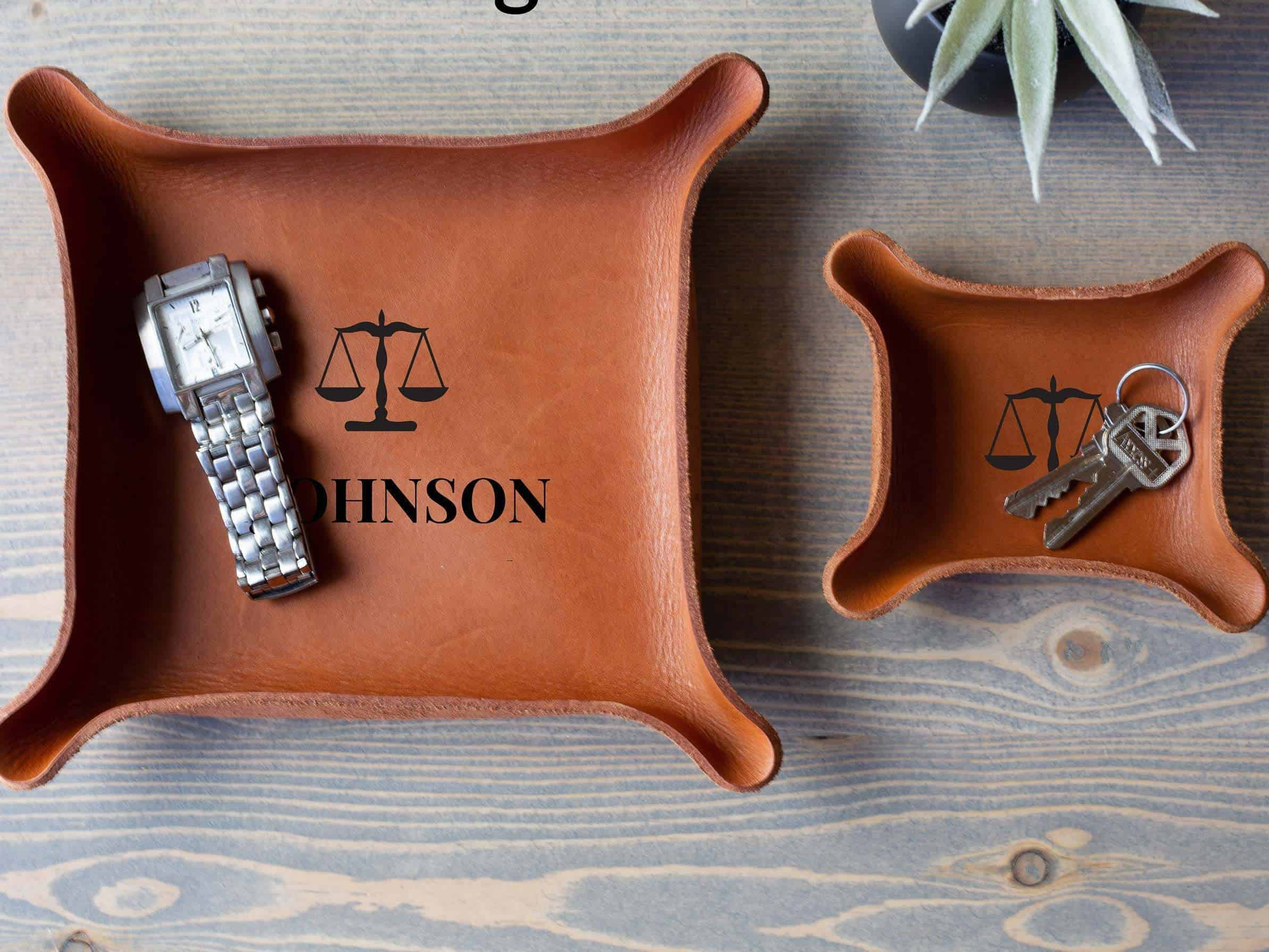 Leather Catchall Tray - A Retirement Gift For Teachers