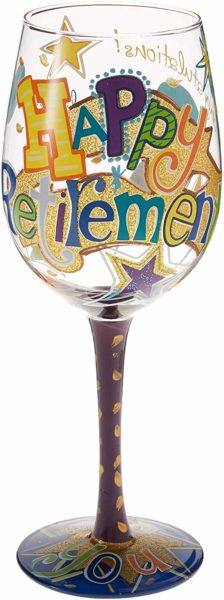 Happy Retirement Wine Glass Gift For Teachers