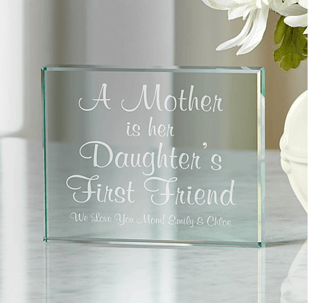 memories glass block for mom