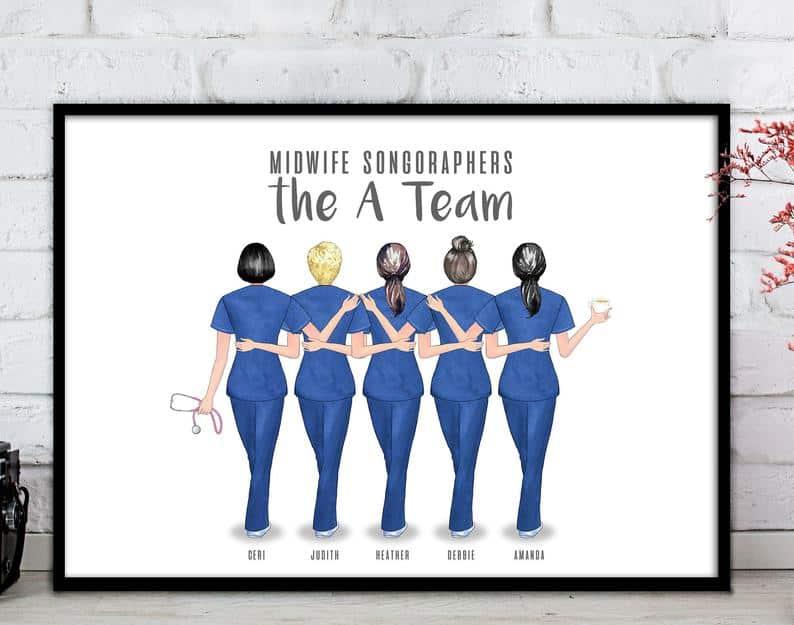 Midwife Team Print