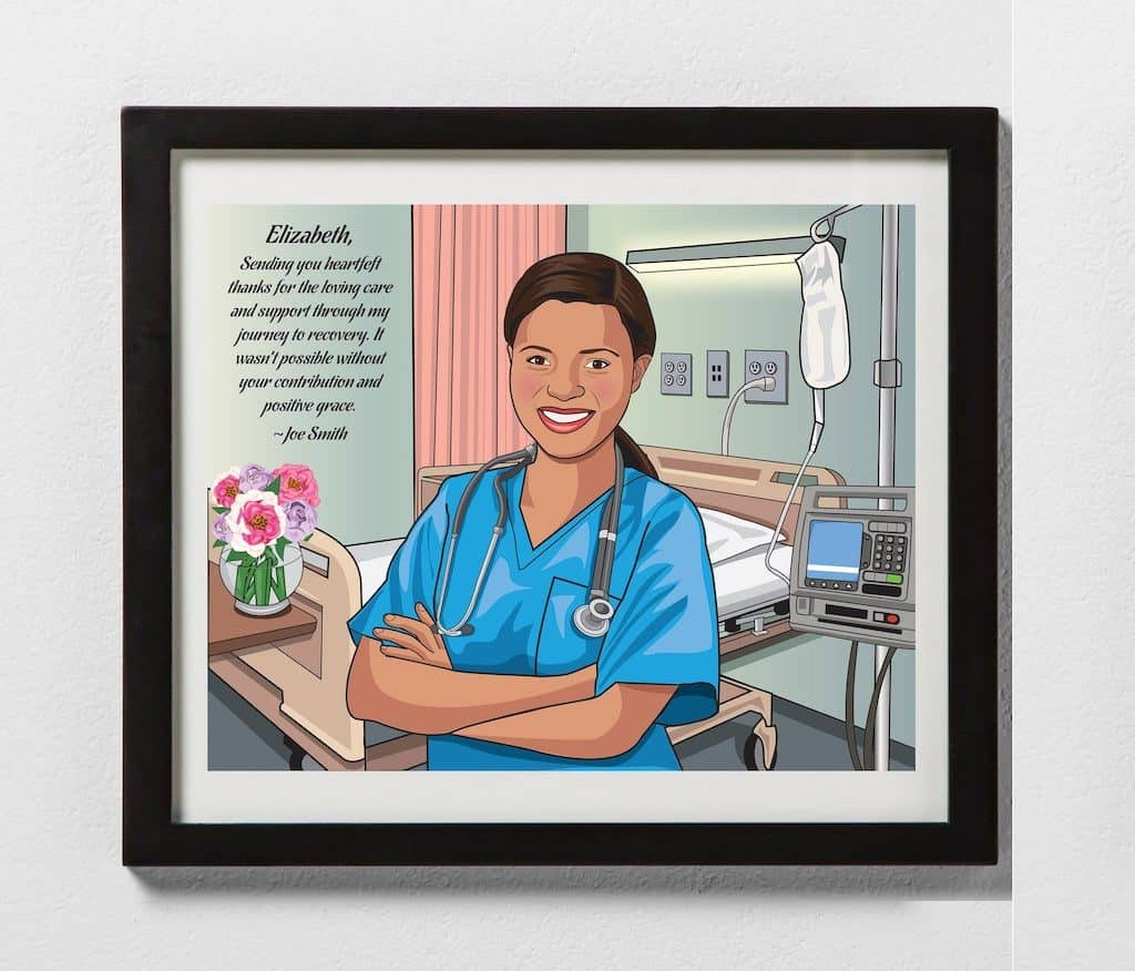 Nurse Appreciation Gift - Nurse Caricature