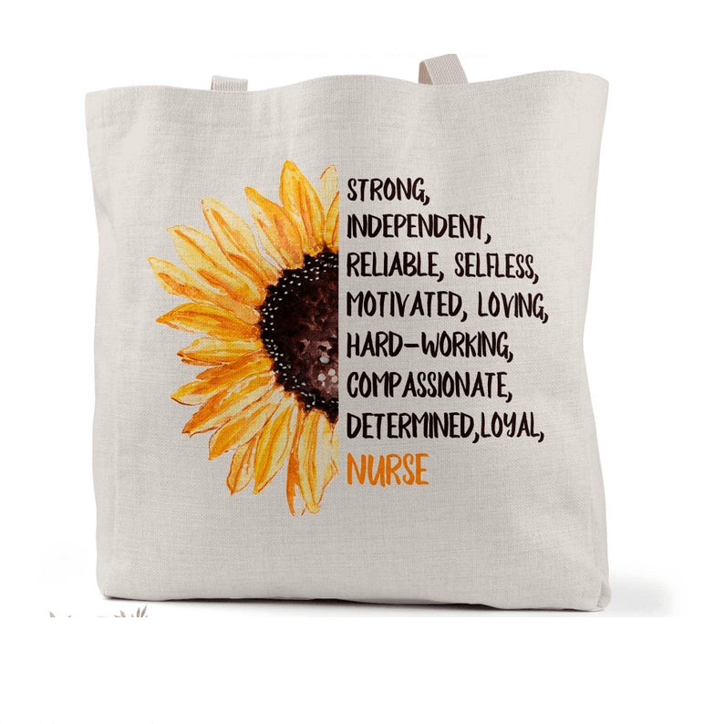 Sunflower Nurse Tote Bag