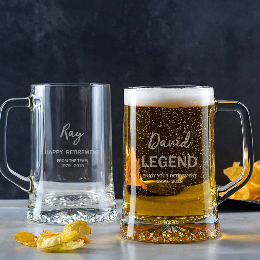 Personalized Retirement Beer Glass Gift For Teachers