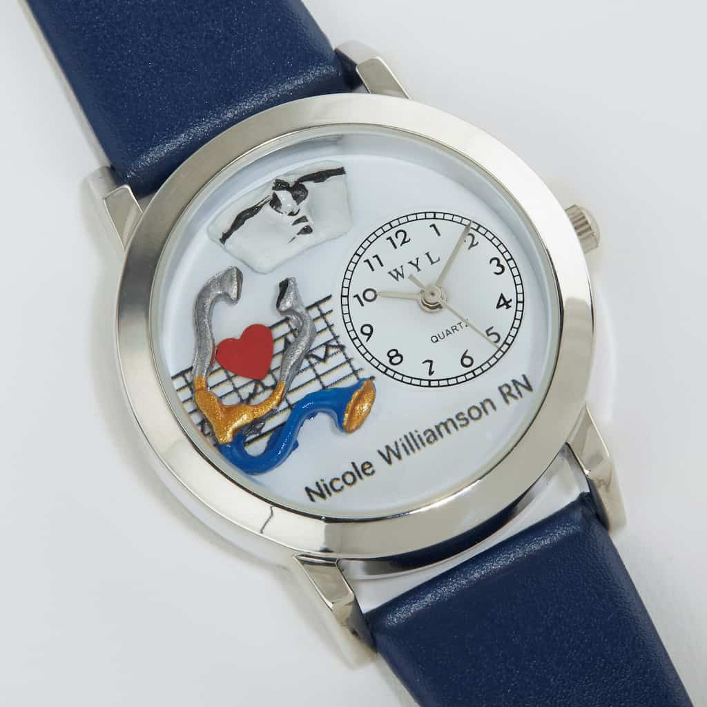 Personalized 3-D Nursing Watch Gift