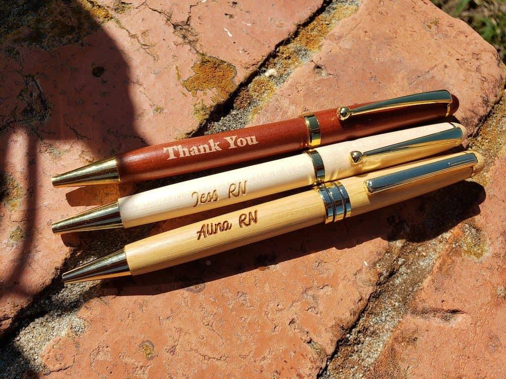 Personalized Engraved Wood Ballpoint Pen Nurse Gift