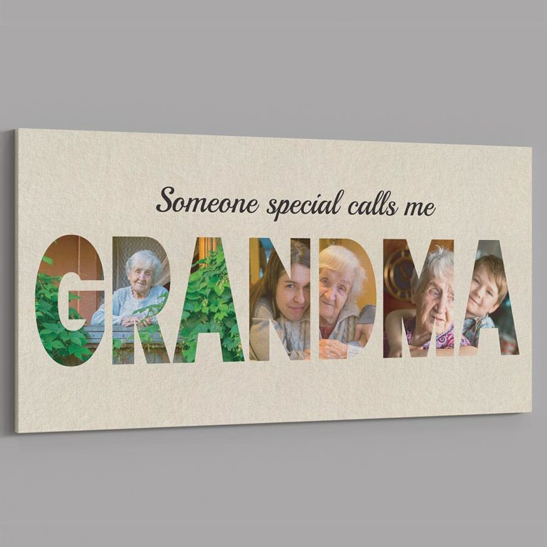 best online mothers day gifts: personalized grandma photo canvas.