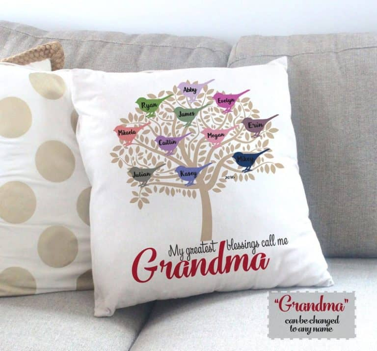 Throw Pillow/Cover, Custom Gift for Mom