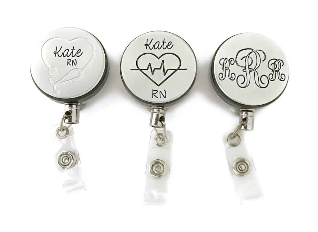 Personalized Retractable ID Badge Holder - Gifts For New Nurses