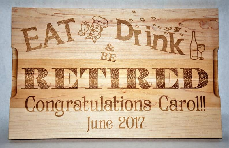 Retirement Cutting Board Gift For Teachers