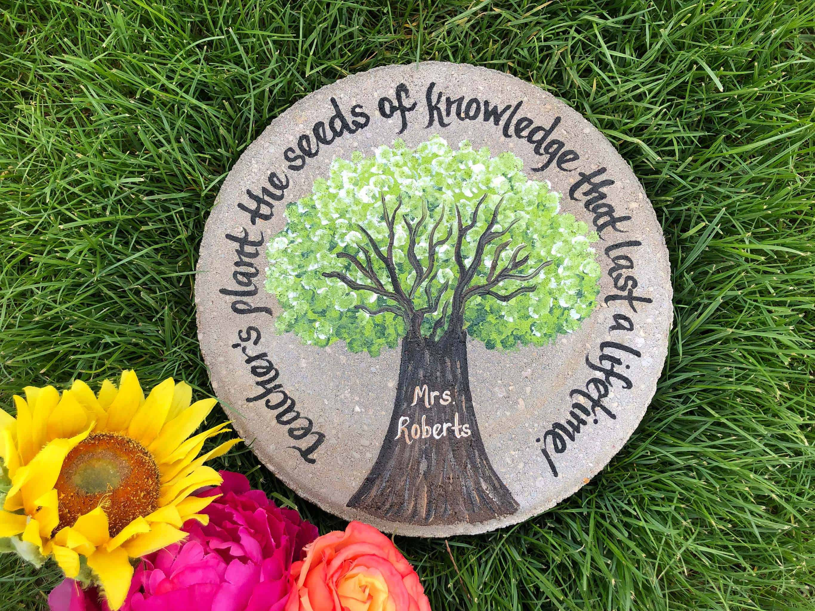 Personalized Stepping Stone - Retirement gifts for teachers