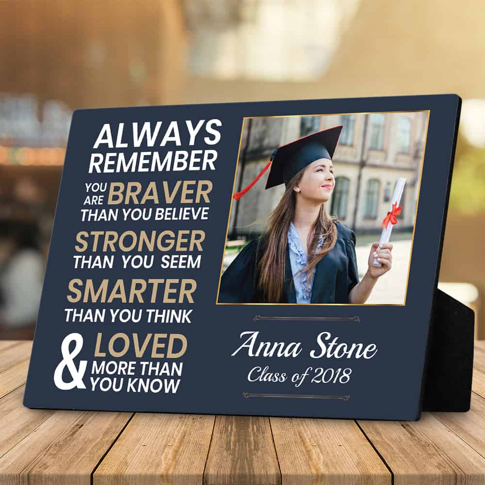 You Are Braver Than You Believe Plaque - Nurse Graduation Gifts