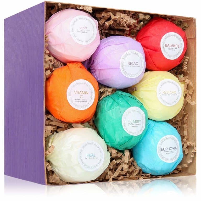 cheap last minute mother's day gifts: bath bombs gift set ideas