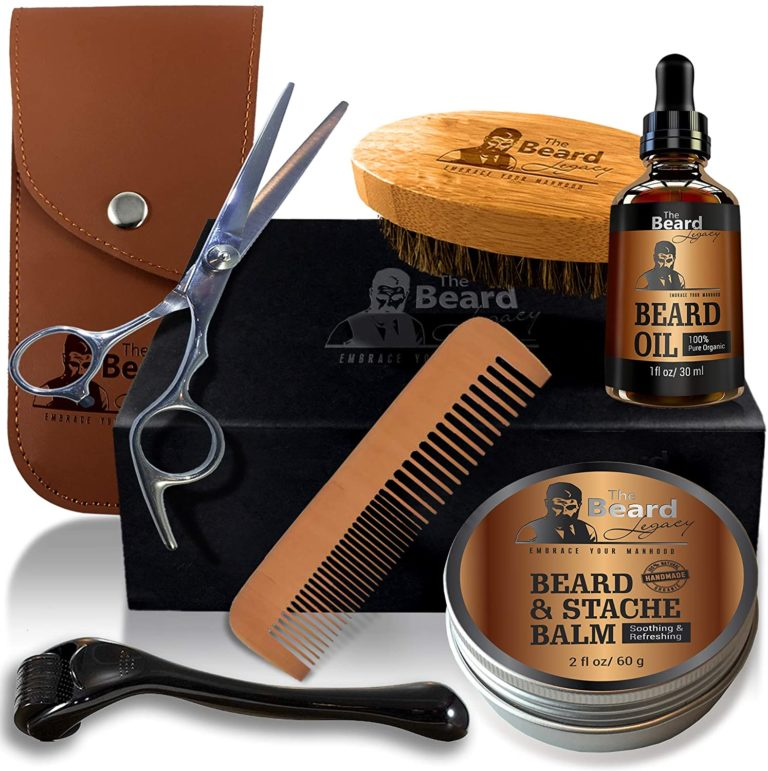 birthday gift for husband: beard grooming and trimming kit