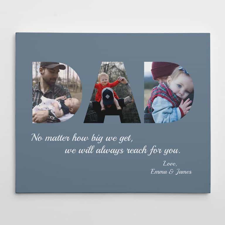 gift for husband who has everything: custom photo canvas print