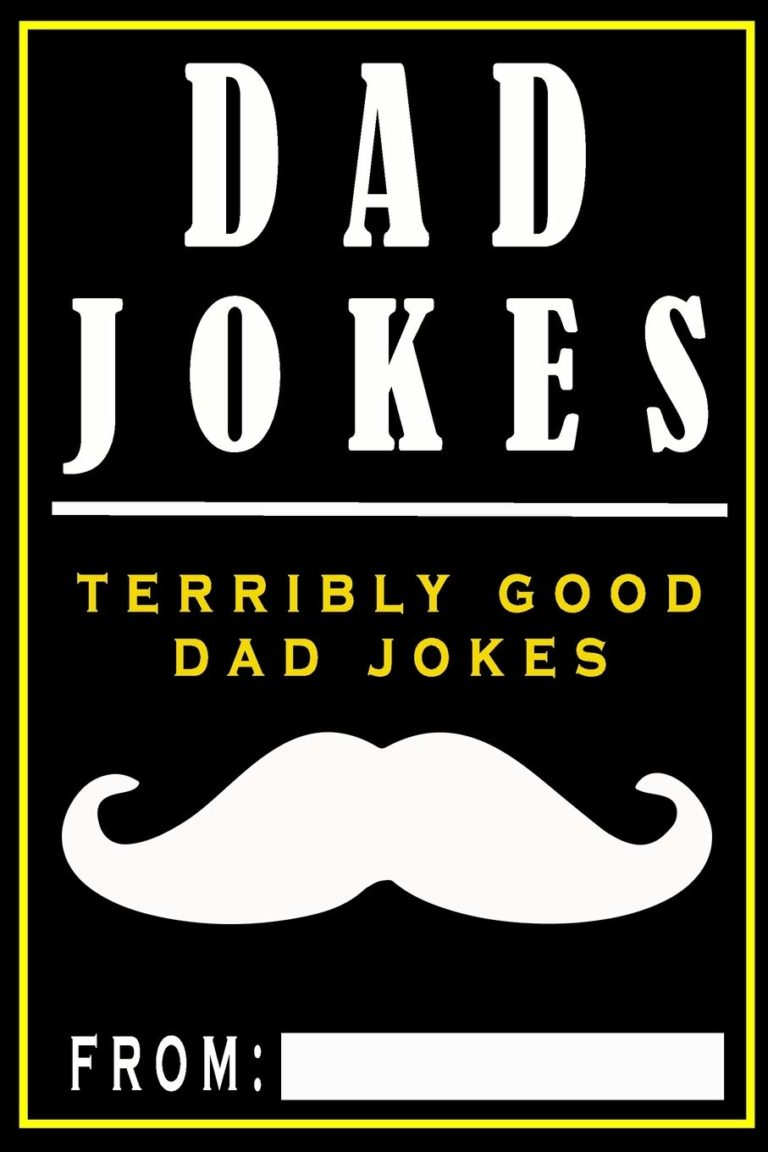 funny gifts for husband: dad jokes book