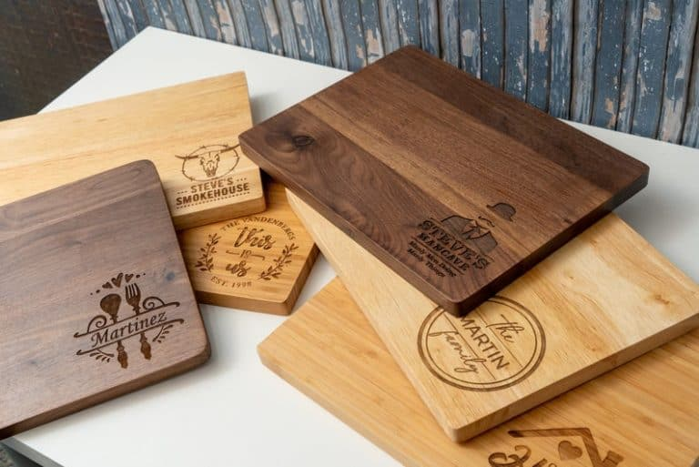 best father's day gifts for grandpa: engraved cutting board