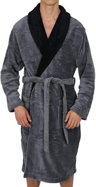 grandpa gifts: a fleece bathrobe