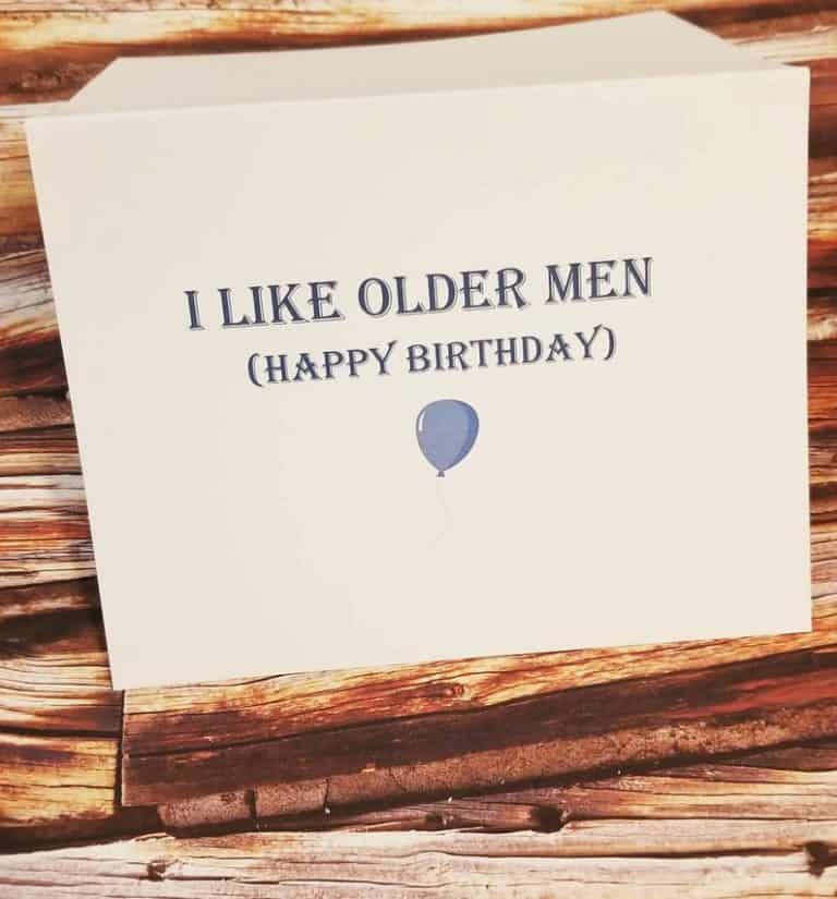 a funny birthday card for husband