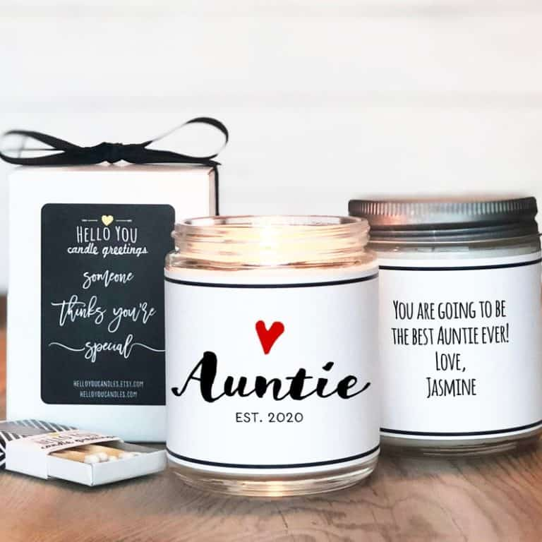 Auntie Candle Gift - new aunt gifts