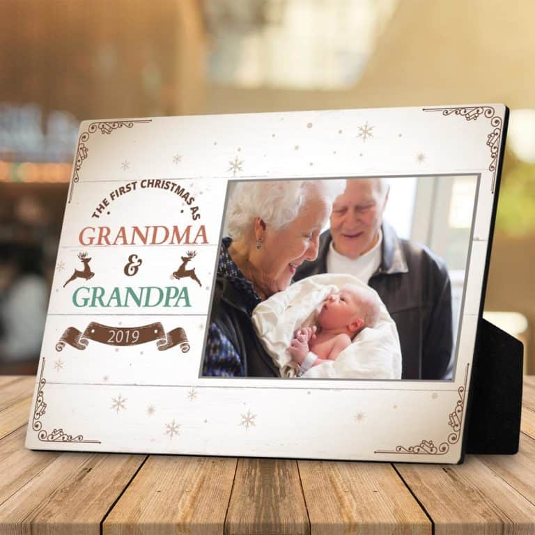 grandpa and grandma photo desktop plaque
