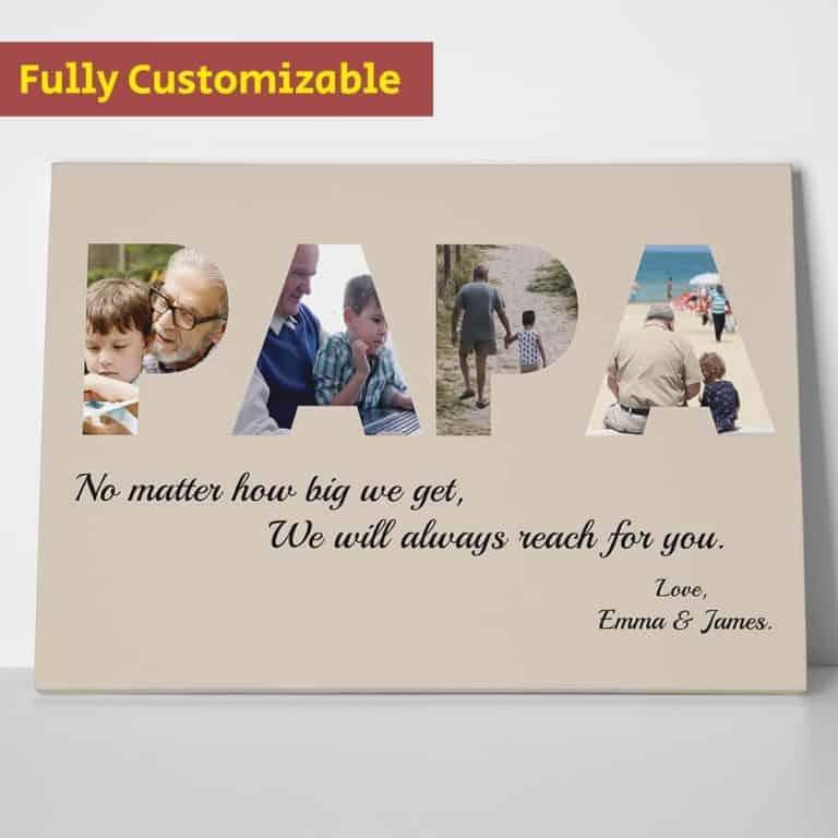 custom photo canvas - personalized grandpa gift