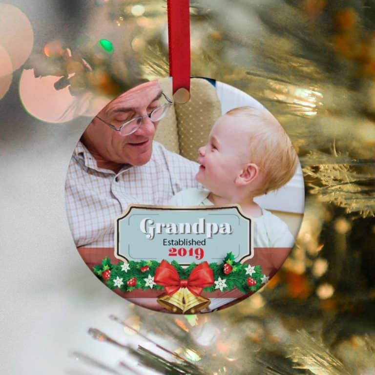 personalized ornament for grandpa