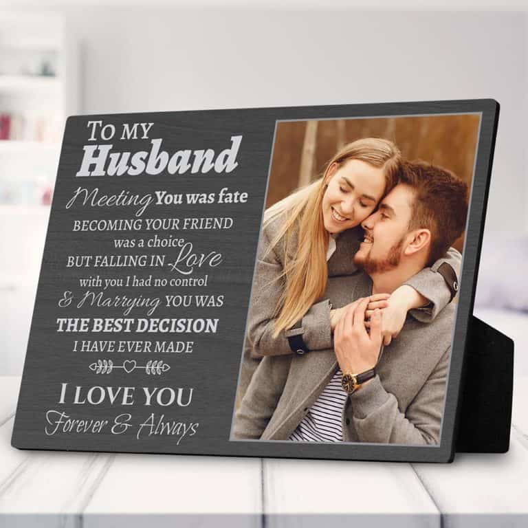 romantic gift for husband: custom photo plaque