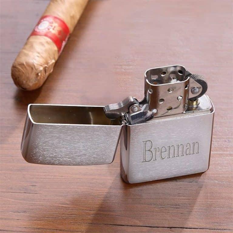 cool gift for him: engraved zippo lighter