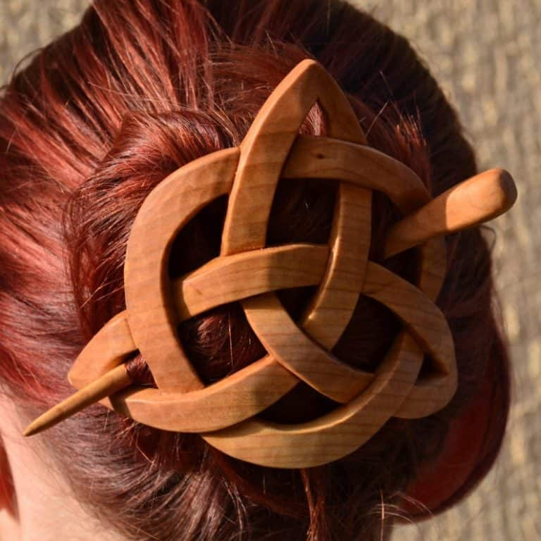 handmade gifts: hair stick hair barrette