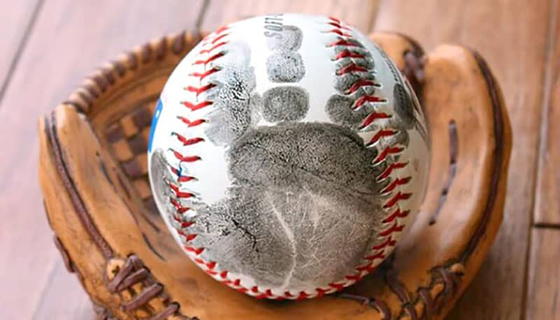 Father's Day Gift From Baby - Handprint Baseball