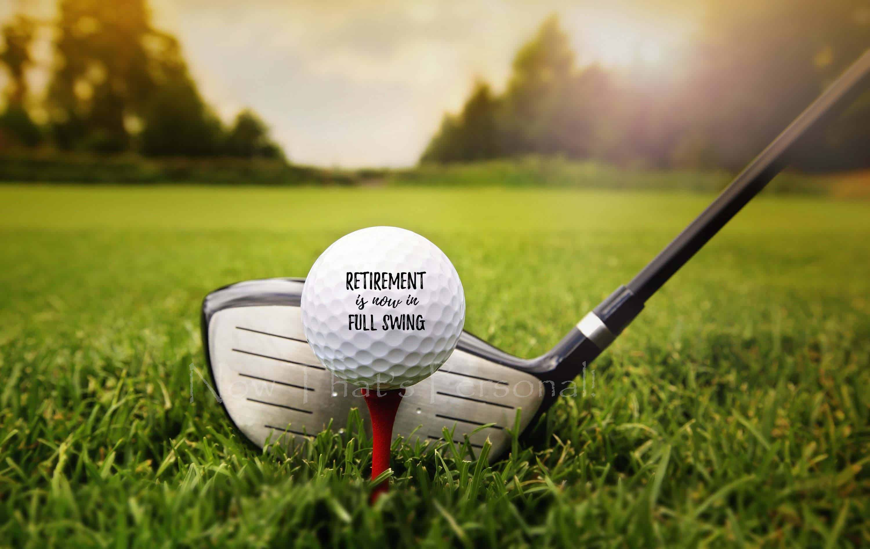 retirement golf ball gift for teachers