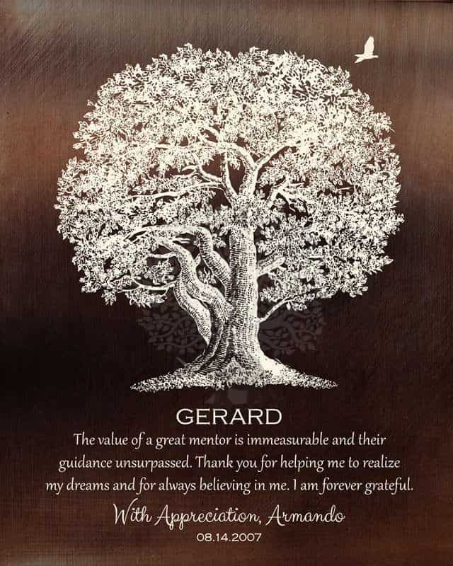 oak tree print - retirement gifts for teachers