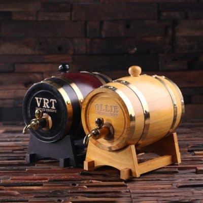 1.5L Engraved Whiskey Barrel for Best Man, Groomsmen