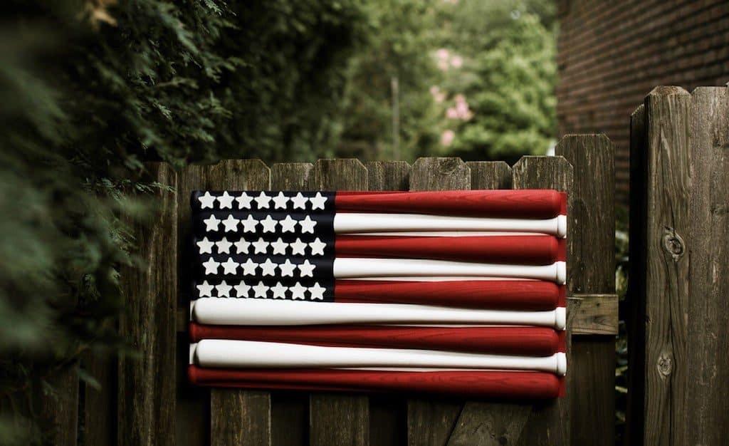 Baseball Bat Flag - Cool Man Cave Gift