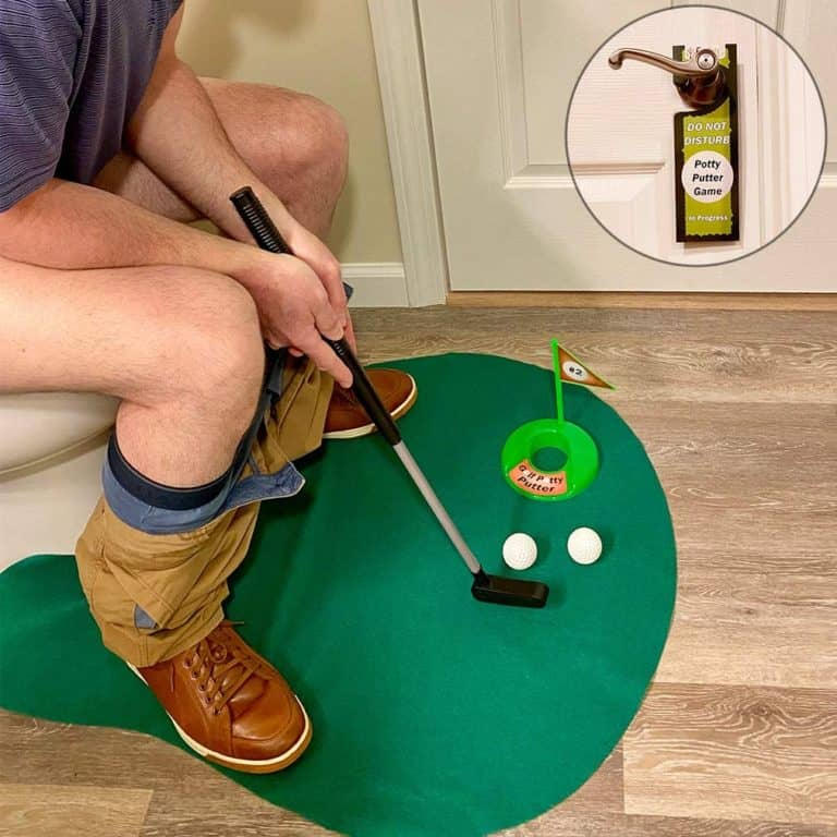 Bathroom Golf Putting Game