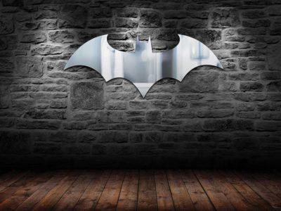 Batman Logo Mirror For Man Cave